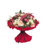 Ramo Flores Tonos Rojos