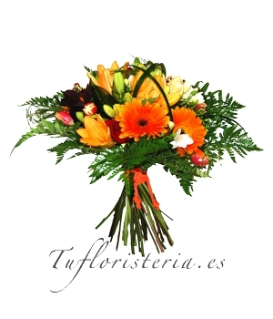 Ramo flores Tonos Naranja
