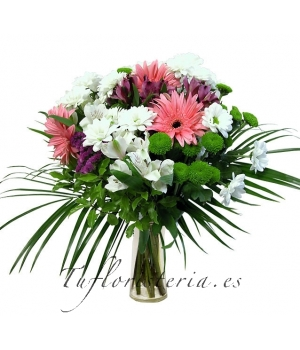 Ramo Flores Variada Tonos Verde